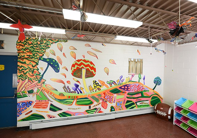 Mushroom Mural/Dorsey Recreation Center