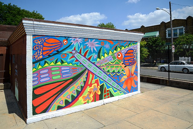 Dorsey Recreation Center/Milkweed Butterfly Mural