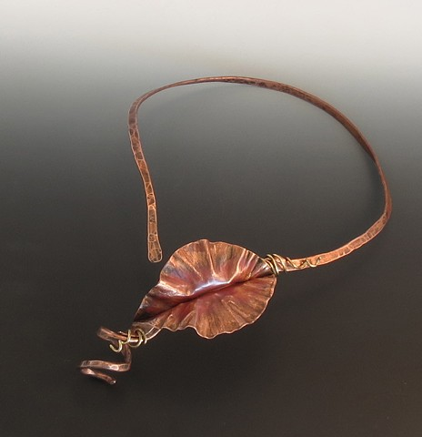 Copper Leaf Collar