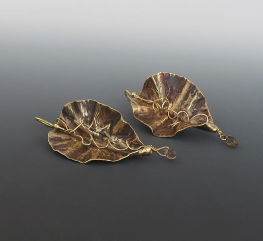 Nugold Leaf Earrings
