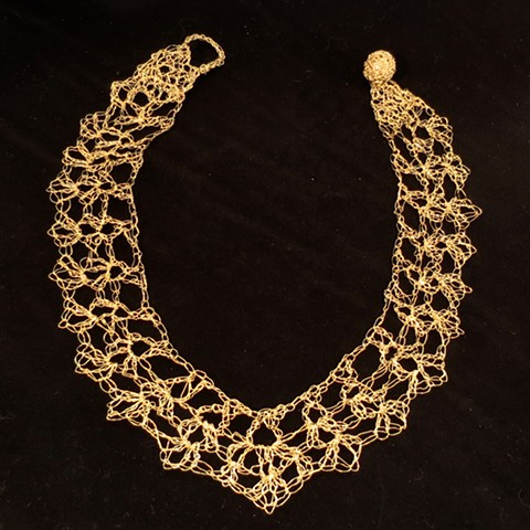 Hand Crocheted Lacey Collar
