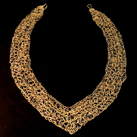 Hand Crocheted Collar with Hook and Eye