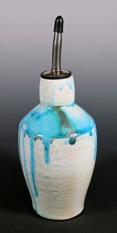 Blue Oil/Vinegar Bottle