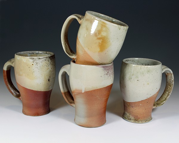 Wood Fired Shino Mugs