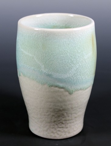 Blue Soda-fired Tumbler