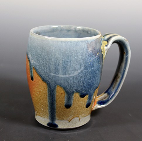 Blue Soda Fired Mug