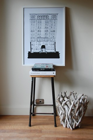 New York City Series, Val's Apartment, Upper West Side. Illustration by Dani Green