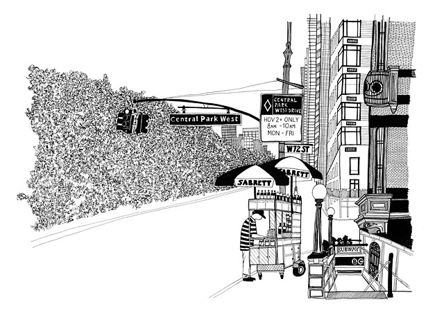 New York City Series, Central Park West. Illustration by Dani Green