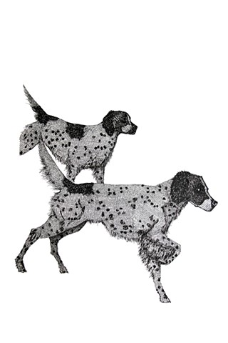 The Hunting Party Series, Hunting Dogs. Illustration by Dani Green