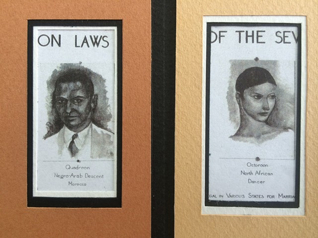 BOOKMARKS for a MIXED RACE NARRATIVE: Who Could and Couldn't Marry Whom (Tonal) - detail  2015