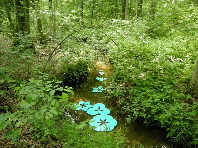 outdoor environmental art, art and ecology, site-specific installation, public art