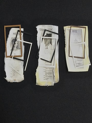 Leslie Berns, Works on paper, collage, Mixed Race Studies, Contemporary Art