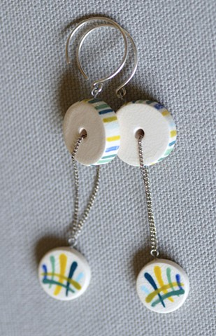 Kinetic Earrings, Brushstrokes