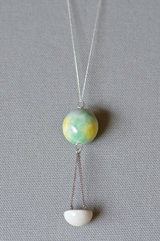 Hanging Half Sphere Necklace