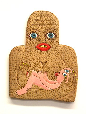 folk art outsider art brett douglas hunter howard finster wood carving carved
