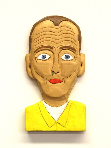 booger man brett douglas hunter dow pugh howard finster folk art artist wood carving