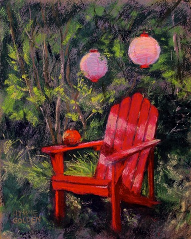 Summer, Lanterns, Lawn Chair, Red, Adirondack chair
