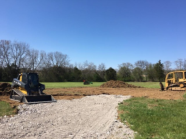 Drive coming right along/barn site in the works