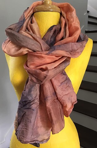 Hand Dyed Silk Scarf By Us