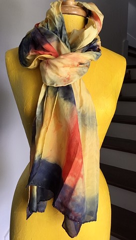 Hand Dyed Silk Scarf By Us Sunflower