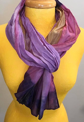 Hand Dyed Silk Scarf by Us Violet