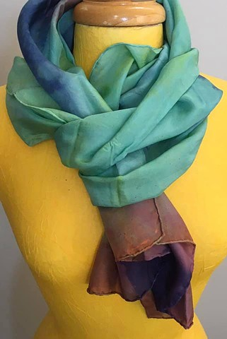Hand Dyed Silk Scarf by Us Turquoise