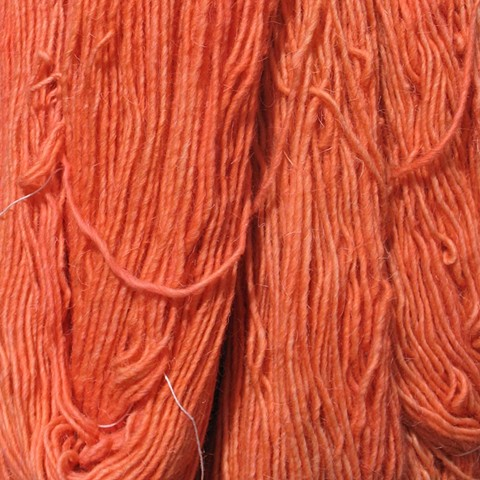 Hand Dyed New Mexico Churro Wool (3 skeins available) Salmon