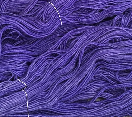 Hand Dyed NM Churro Wool (2 skeins) Iris