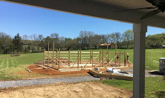 The barn raising begins