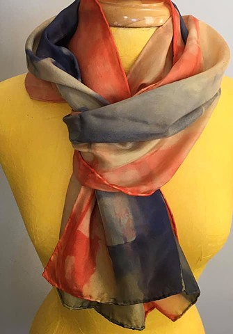 Hand Dyed Silk Scarf by Us Mayan Gold