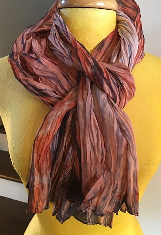 Hand Dyed Silk Scarf