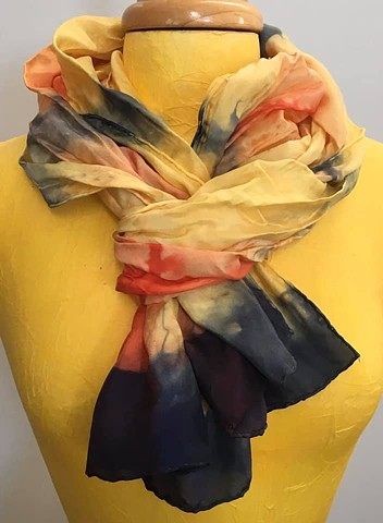 Hand Dyed Silk Scarf by Us Sun Flower