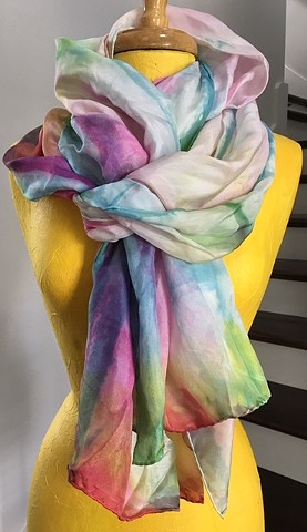 Hand Dyed Silk Scarf By Us Spring