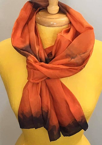 Hand Dyed Silk Scarf by Us Harvest