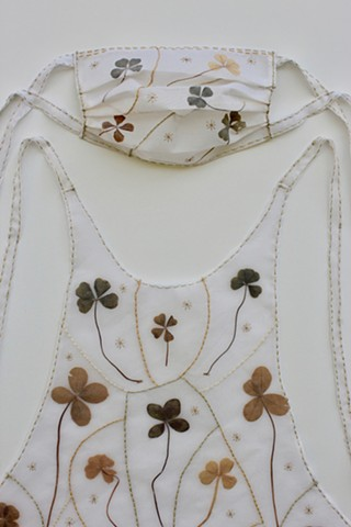 Four Leaf Clover Protector Apron and Mask-Detail