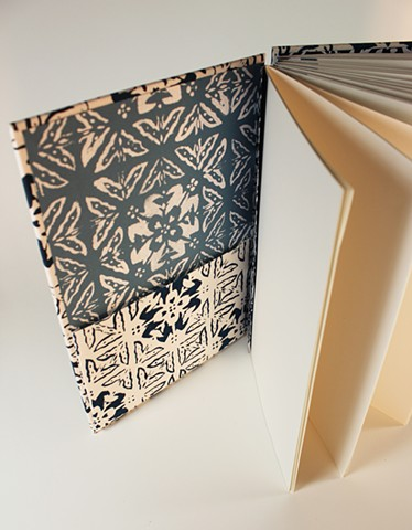 Handmade Book, Hand Printed Fabric