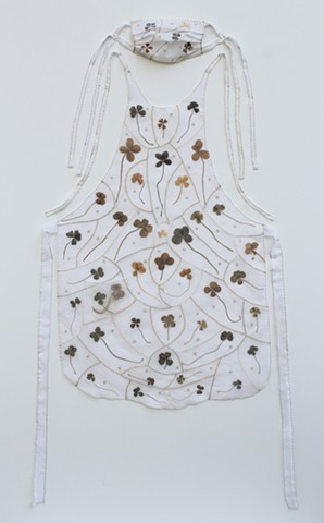 Four Leaf Clover Protector Apron and Mask by Lesley Patterson-Marx