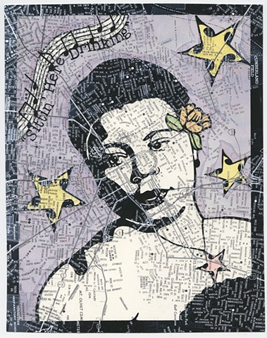 Cut paper portrait of Christine Kittrell by Lesley Patterson-Marx