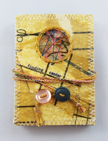 Finding Center Book (part of Fabrics and Dress Sewing Meditation Box)