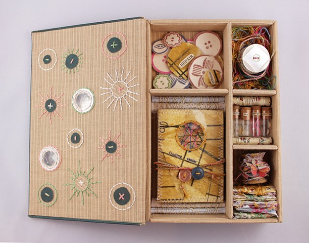 Fabrics and Dress Sewing Meditation Box (with Finding Center book) Detail