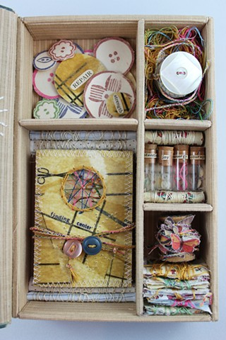 Fabrics and Dress Sewing Meditation Box (with Finding Center book)-Detail