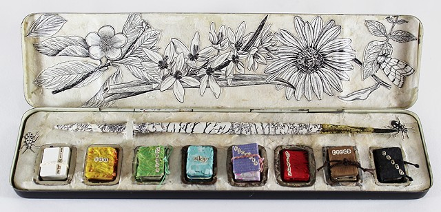 The miniature books within this paintbox are about the magnificent colors found in nature.