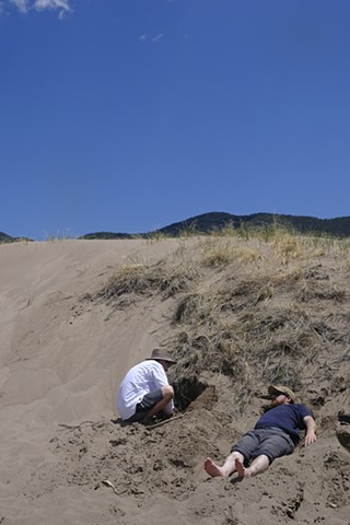 Great Sand Dunes, CO: Adam and David Photographing with Sand Dune Camera