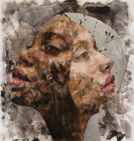 faces, painting, feminist, portrait, intersectional, oil paint, contemporary art, NYC