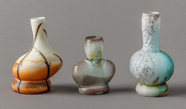 Three rock vessels