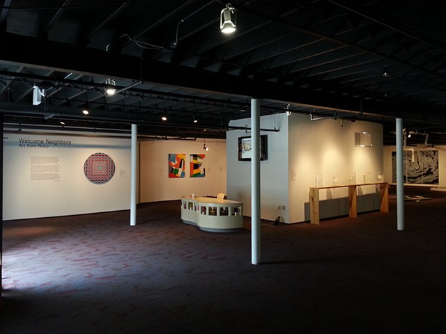 """Welcome Neighbors: Art from NuLu"" at the Speed Art Museum Local Speed space, 2013."