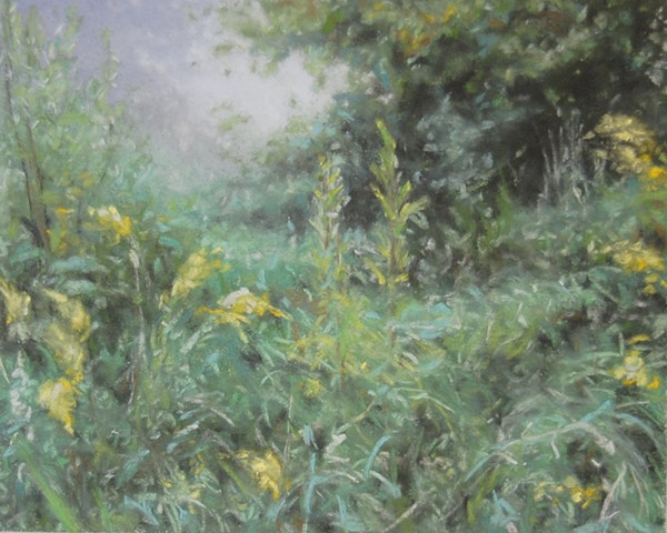 pastel landscape drawing