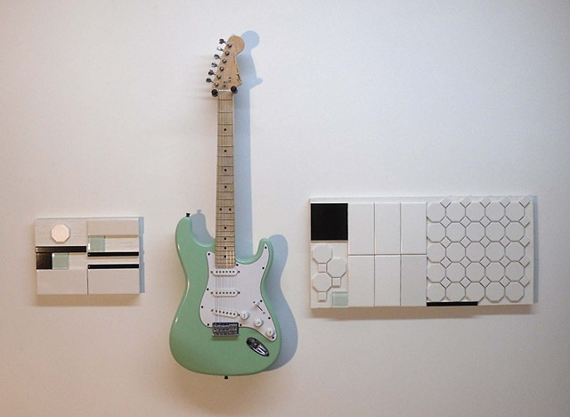 Jesus and a Surf Green Stratocaster