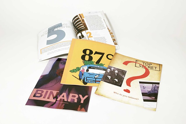 Magazine designs (digitally printed and bound)