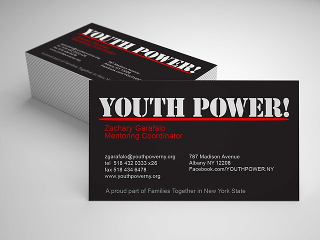 Youth Power! business card design